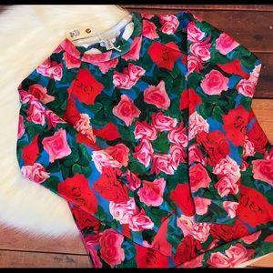 Clashist Reversible Magic Roses Sweatshirt XS